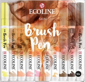 Ecoline brushpen set huid