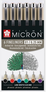 Micron fineliners 0,25