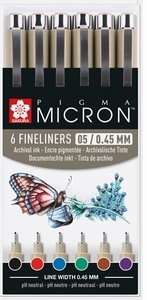 Micron fineliners 0,45
