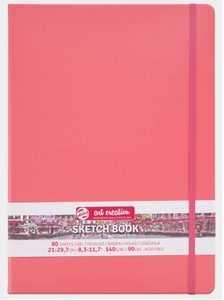Dummy-schetsboek Coral red