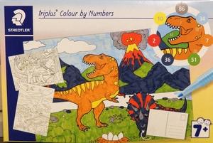 Kleuren op nummer Dino