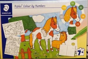 Kleuren op nummer Paarden