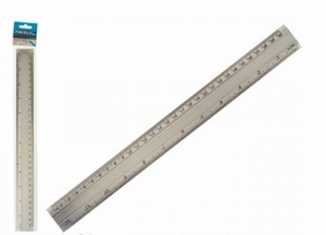 Liniaal aluminium 30 cm