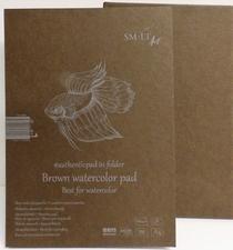 Aquarelbook Bruin papier