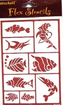 sjabloon vissen<br />per stuk