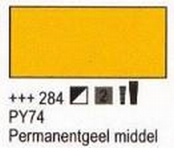 Permanent geel middel<br />75 ml tube