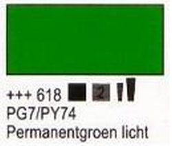 Permanentgroen licht  75 ml tube