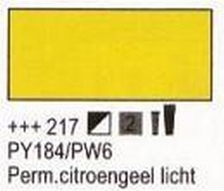 Permanent citroengeel licht<br />75 ml tube