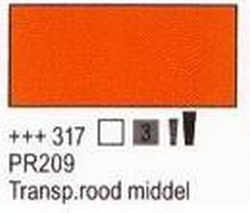 Transparant rood middel<br />75 ml tube