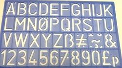 Lettersjabloon 30mm