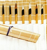 Penselen matje Bamboe<br />per stuk