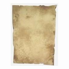 Oorkonde papier  per stuk