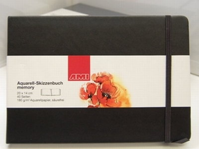 Aquarel tekenboek 14x20cm