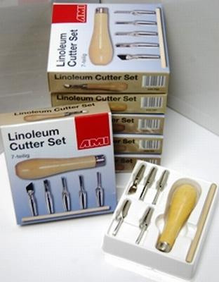 LINOSET- Linosnijset 7 Delig-kleurpalet