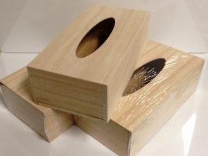 Tissuedoos-blank hout  per stuk
