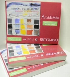 Fabriano-teken-aquarelblok 100vel
