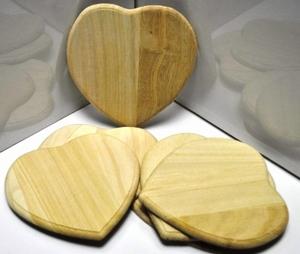 Houten hart<br />per stuk