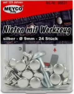 Holnieten 9 MM  per set