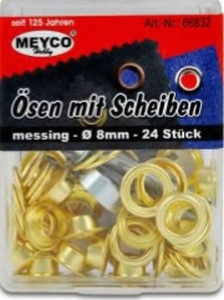 Bevestigings ogen 8MM  per set