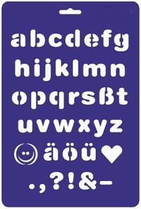 Lettersjabloon drukschrift<br />per stuk