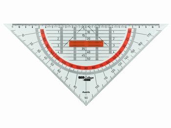 Geodriehoek-Tekendriehoek 26cm