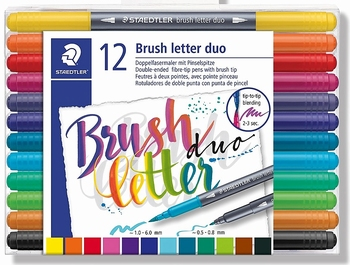 Brush letter duo-penseelstiften