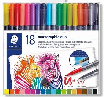 Aquarelstiften 18 kleuren