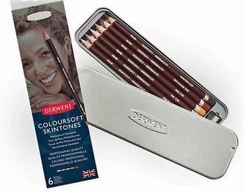 Derwent Coloursoft kleurpotloden huidtinten