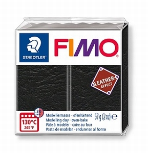 Fimo leather Zwart