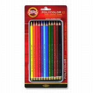 Polycolor kleurpotloden 12 kleuren