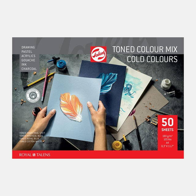 Mix papier A4 koele kleuren