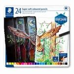 Kleurpotloden Super soft 24 kleuren
