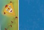 Vliegerpapier D blauw