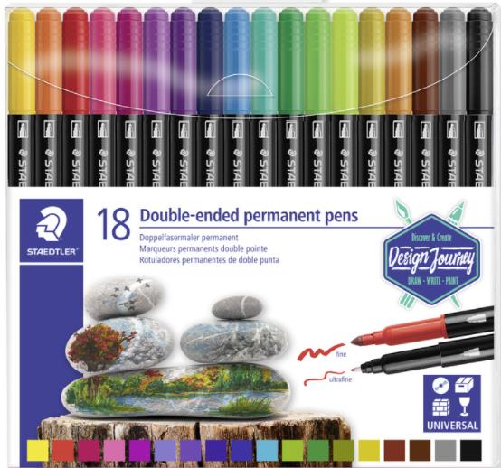 Permanent stiften 18 kleuren