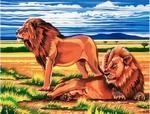 rustende leeuw
