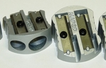 Puntenslijper aluminium dubbel gat