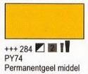 Permanent geel middel