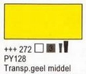 Transparant geel middel 75 ml tube