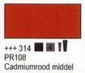 Cadmiumrood middel 75 ml tube