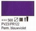 Permanent blauw violet