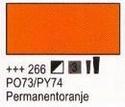Permanent oranje 75 ml tube