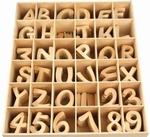 Houten letters&cijfers 6 cm