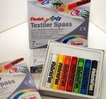 Textielkrijt 7 kleuren