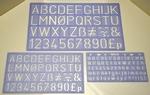Lettersjablonen set Helix