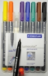 Fineliner set 8 delig Kleur 1,0mm