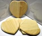 Houten hart  per stuk