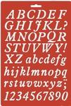 Lettersjabloon Cursiefschrift