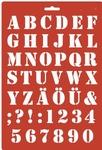 Lettersjabloon saloonschrift per stuk