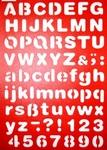 Lettersjabloon drukschrift per stuk