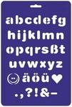 Lettersjabloon drukschrift